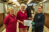 © COPYRIGHT Nigel Andrews 2015. WORLD HORSE WELFARE CHEQUE PRESENTATION Friday; July 31, 2015: Photo by: Nigel Andrews. Tel: +44 (0)1935 478360, Mobile: +44 (0)7860 846061, e-mail: ( nigel_andrews@mac.com ). This image is © Copyright Nigel Andrews 2015 all rights reserved and must not be syndicated or transferred to other systems or third parties. This image is for Editorial News Usage only. Usage for any other purpose is not permitted. Reproduction fees apply to third party usage- telephone 07860 846061. Unauthorised willful breach of copyright is theft and a Criminal Offence.