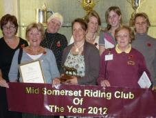 Mid Somerset win Riding Club of the Year 2012